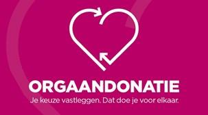 Logo orgaandonatie met daarop de tekst Je keuze vastleggen. Dat doe je voor elkaar